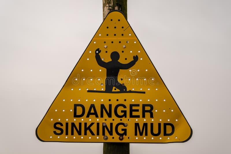 Sinal: Lama de naufr?gio do perigo imagem de stock