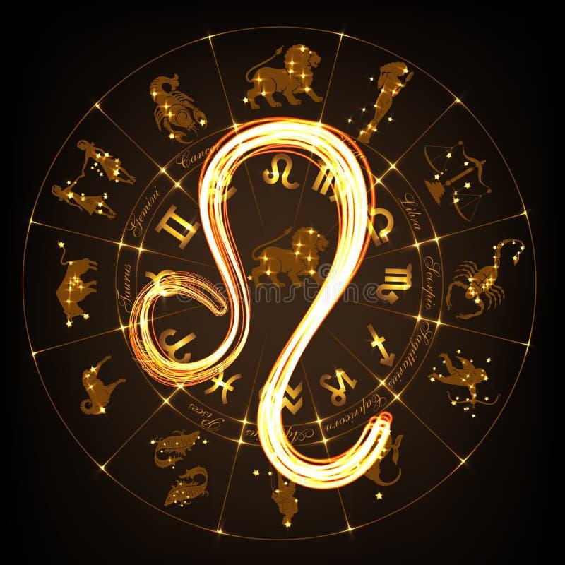 Sinal leo do zodíaco ilustração do vetor