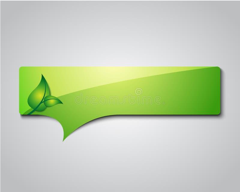 Sinal/logotipo da informação de Eco ilustração do vetor