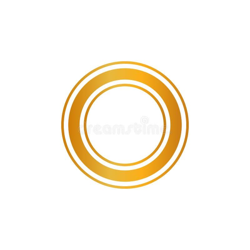 Sinal luxuoso do crachá da etiqueta dourada brilhante superior da qualidade no fundo transparente Pode ser usado como a melhor es ilustração royalty free