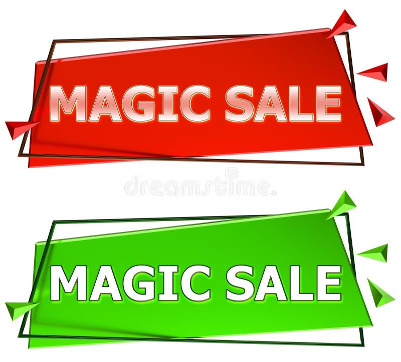 Sinal mágico da venda ilustração royalty free