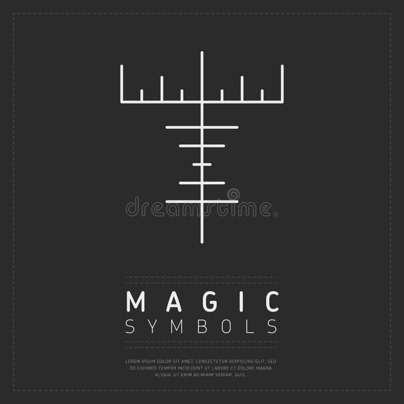 Sinal mágico mitológico no cinza ilustração stock