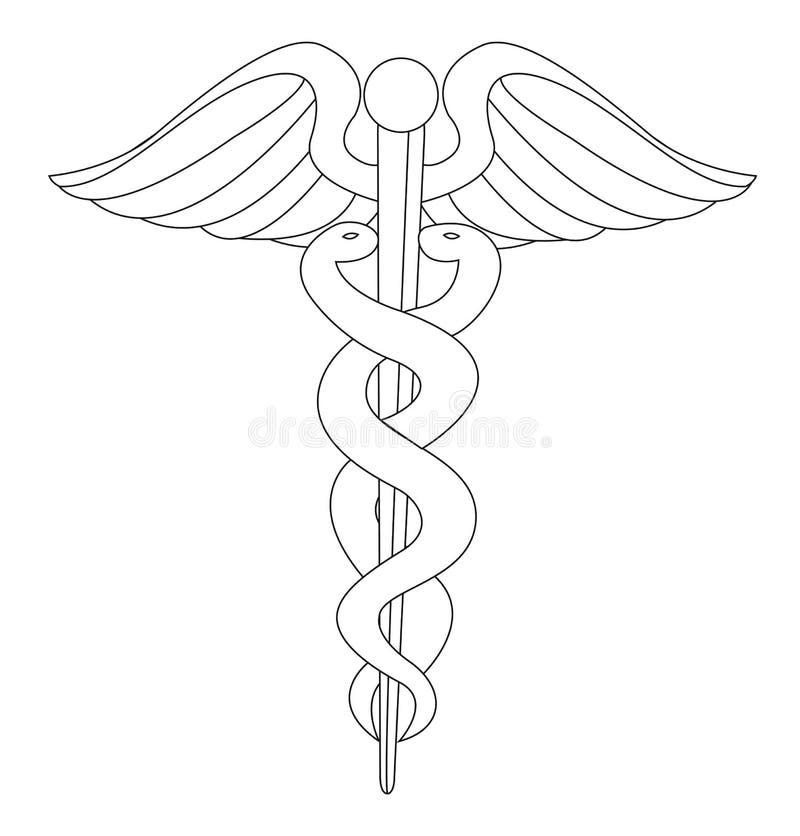 Sinal médico ilustração royalty free