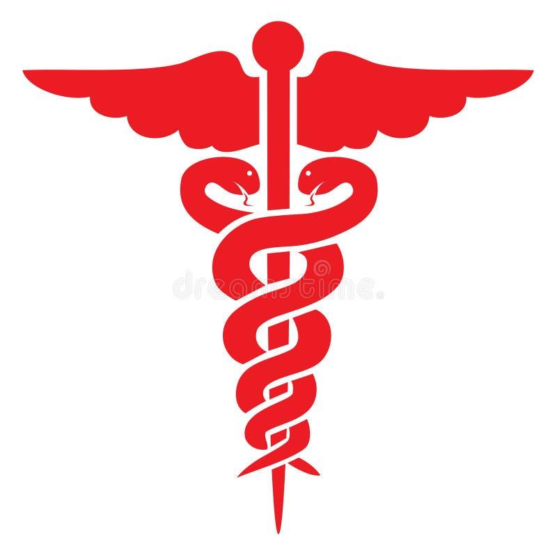 Sinal médico vermelho ilustração royalty free