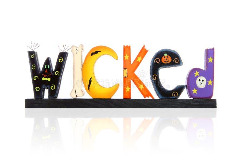 Sinal mau de Halloween fotografia de stock royalty free