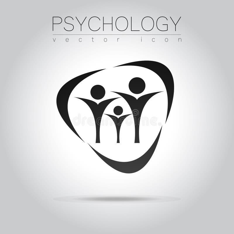 Sinal moderno da libra por polegada quadrada dos povos da psicologia Ser humano da família Estilo creativo Ícone no vetor ilustração do vetor