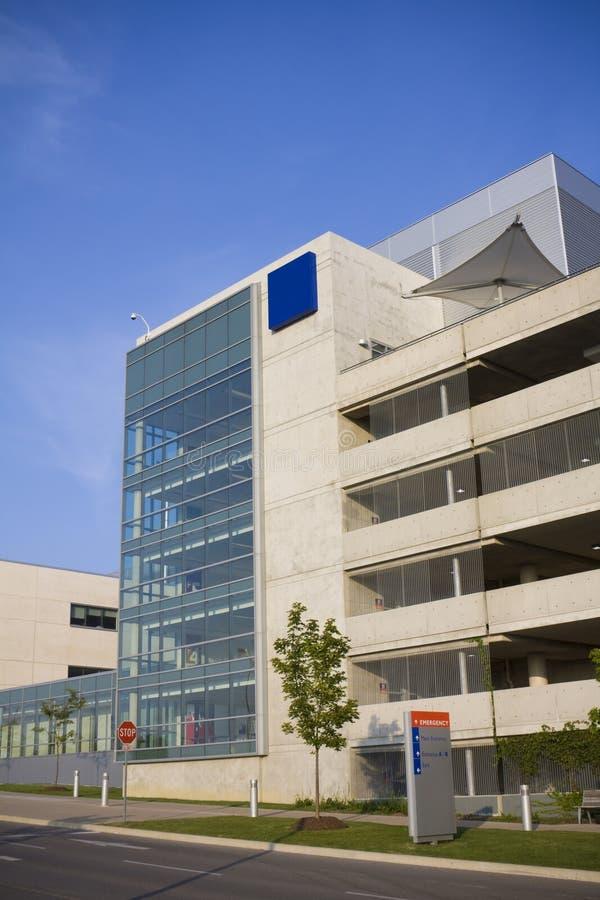 Sinal moderno do hospital e da emergência imagens de stock