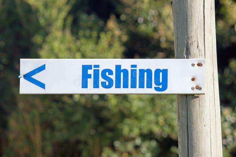 Sinal mostrar o sentido à pesca fotos de stock royalty free