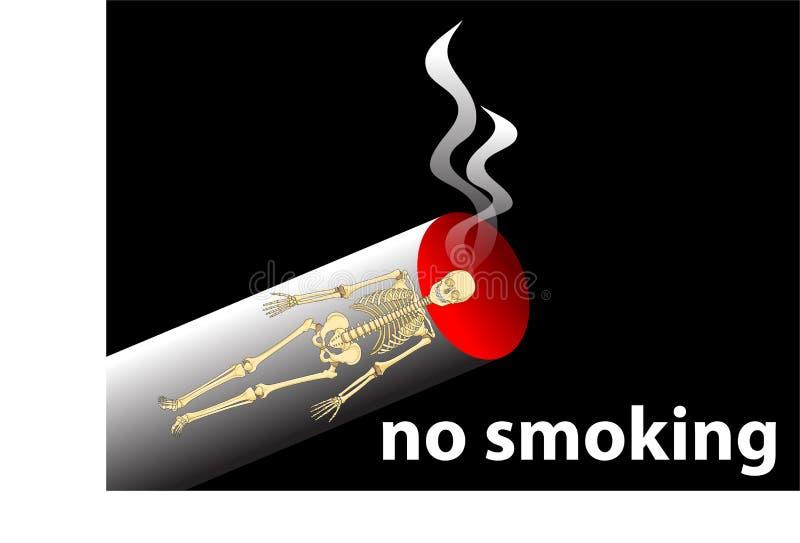 Sinal não fumadores ilustração stock
