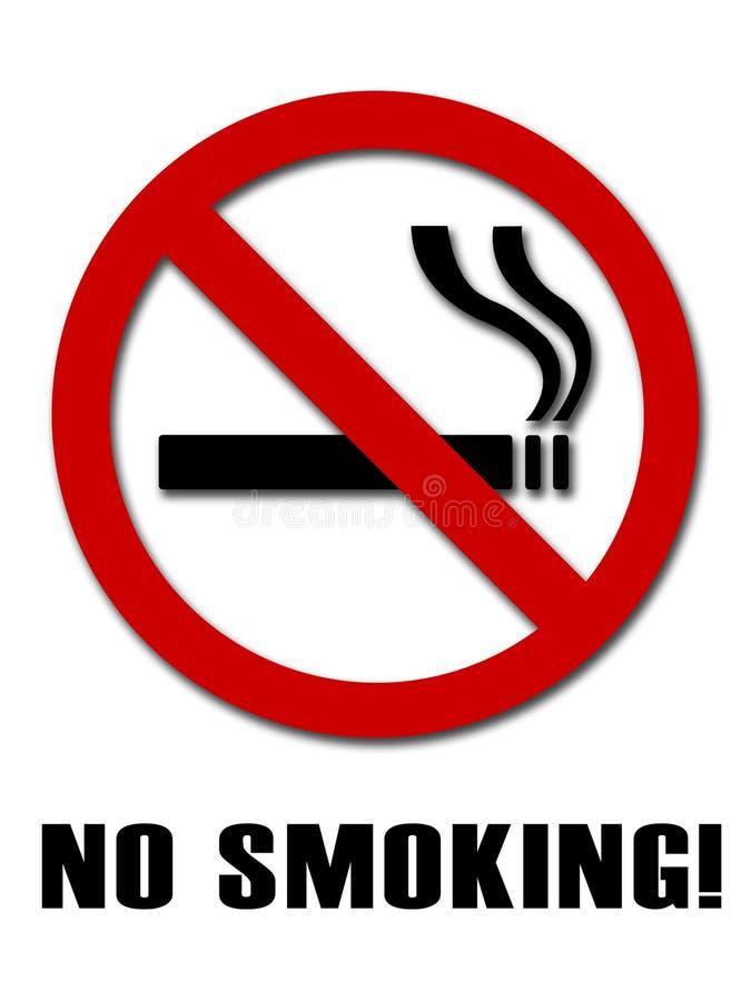 Sinal não fumadores ilustração royalty free