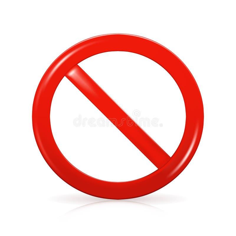 Sinal não permitido ilustração do vetor