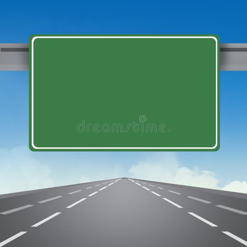 Sinal na estrada ilustração stock