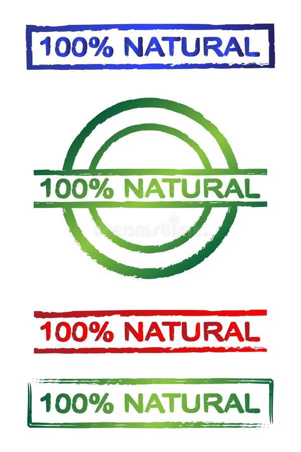 sinal natural de 100% ilustração royalty free
