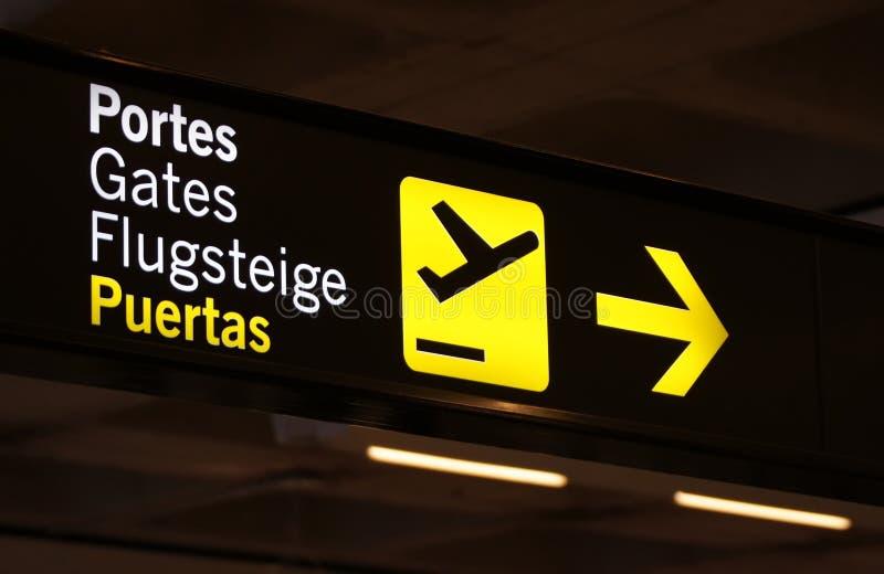 Sinal no aeroporto imagem de stock royalty free