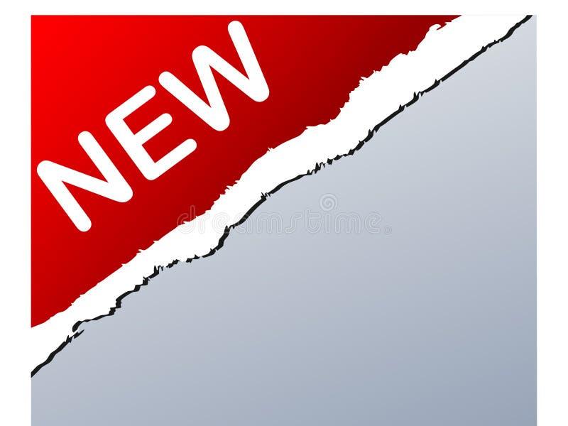 Sinal NOVO ilustração do vetor
