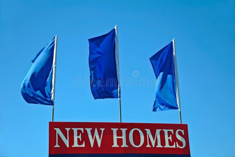 Sinal novo das casas fotografia de stock royalty free