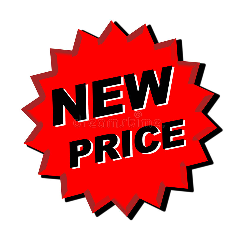 Sinal novo do preço ilustração do vetor