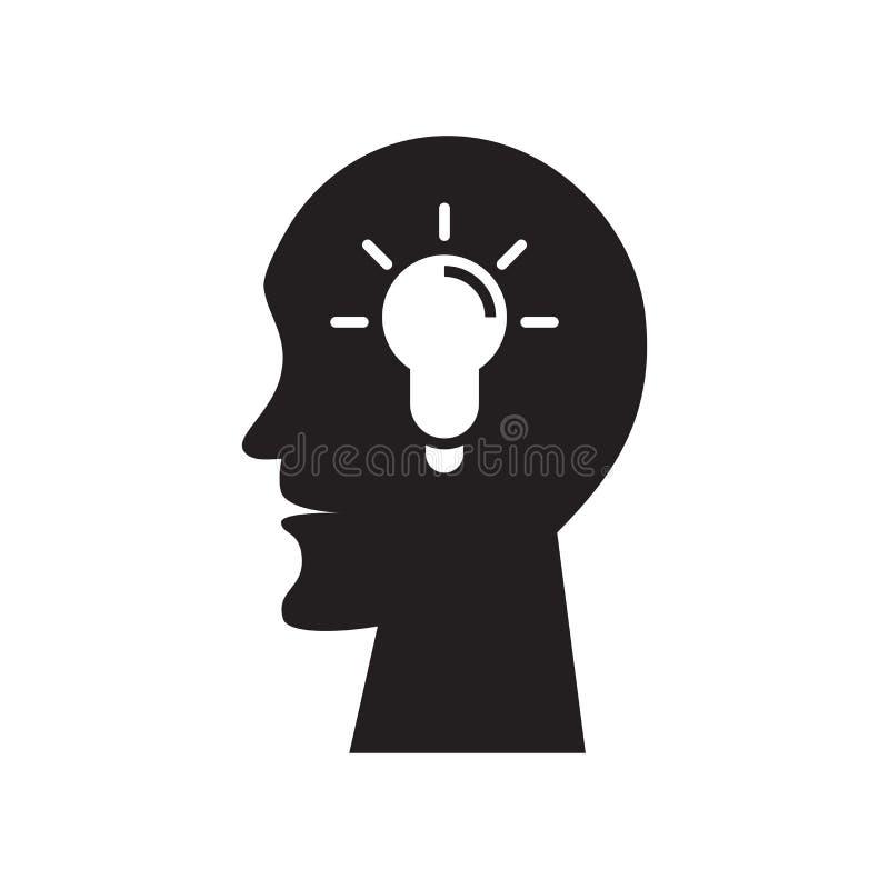 Sinal novo e símbolo do vetor do ícone da ideia isolados no fundo branco, conceito novo do logotipo da ideia ilustração stock