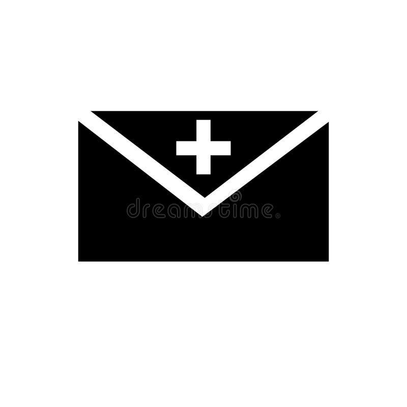 Sinal novo e símbolo do vetor do ícone do e-mail isolados no fundo branco, conceito novo do logotipo do e-mail ilustração royalty free