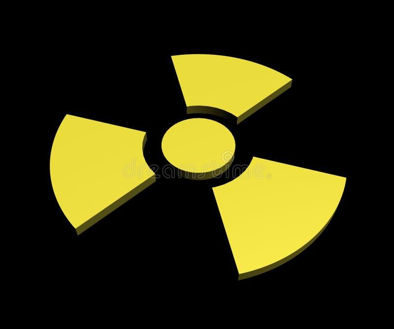 Sinal nuclear 2 imagens de stock