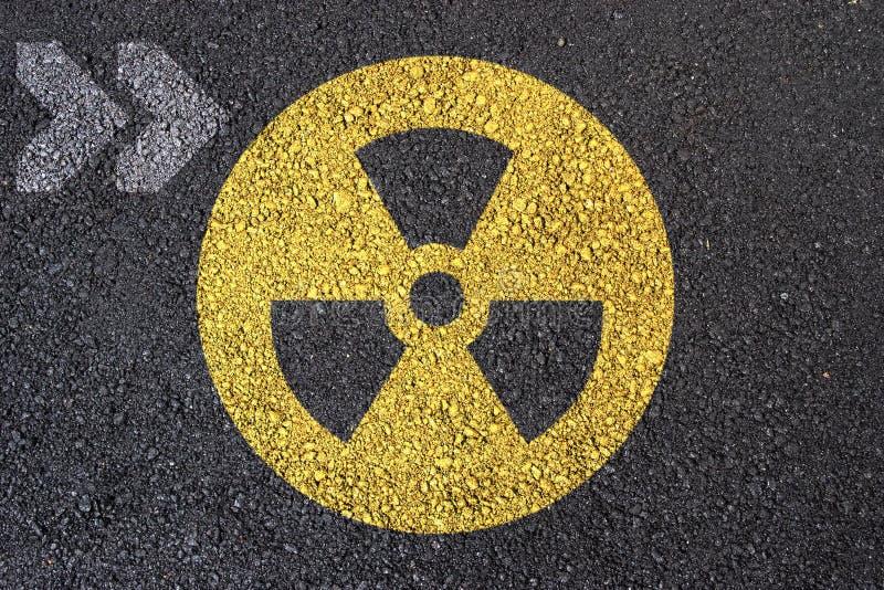 Sinal nuclear imagem de stock