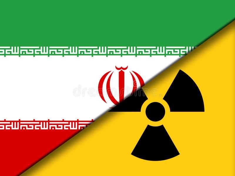 Sinal nuclear de Irã - negociação ou negociações do negócio com EUA - 2d ilustração ilustração royalty free