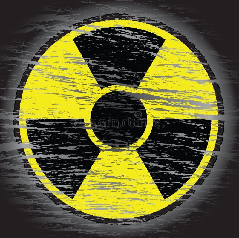 Sinal nuclear do perigo ilustração royalty free