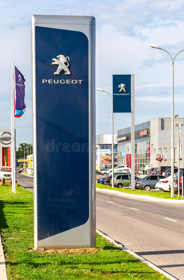 Sinal oficial do negócio da empresa de Peugeot imagem de stock