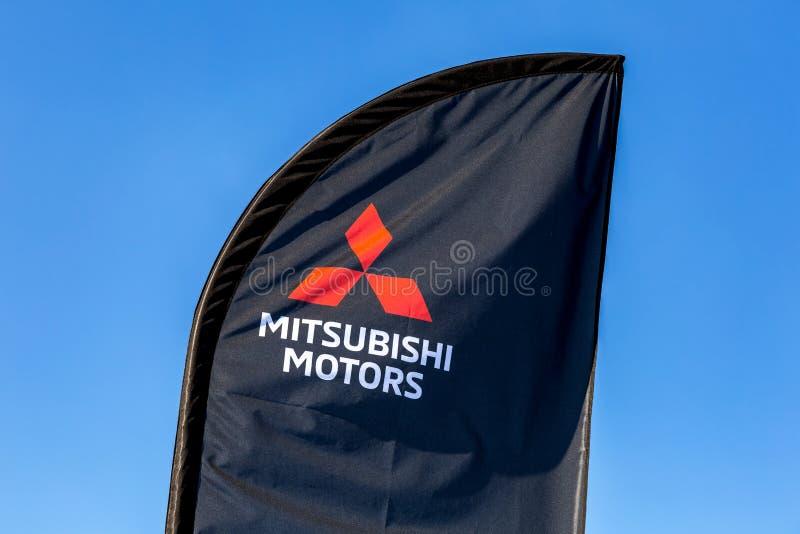Sinal oficial Mitsubishi do negócio imagem de stock