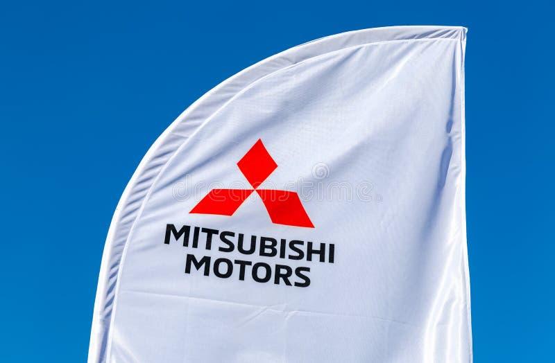 Sinal oficial Mitsubishi do negócio fotos de stock royalty free