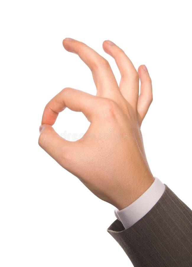 Sinal A-OK da mão imagens de stock royalty free