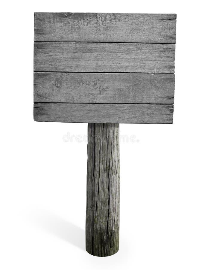 Sinal ou quadro indicador de madeira vazio de Grunge fotos de stock