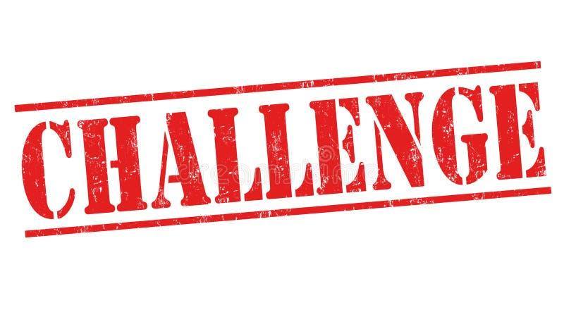 Sinal ou selo do desafio ilustração do vetor