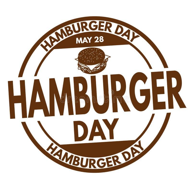 Sinal ou selo do dia do Hamburger ilustração royalty free
