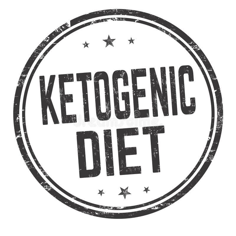 Sinal ou selo Ketogenic da dieta ilustração do vetor