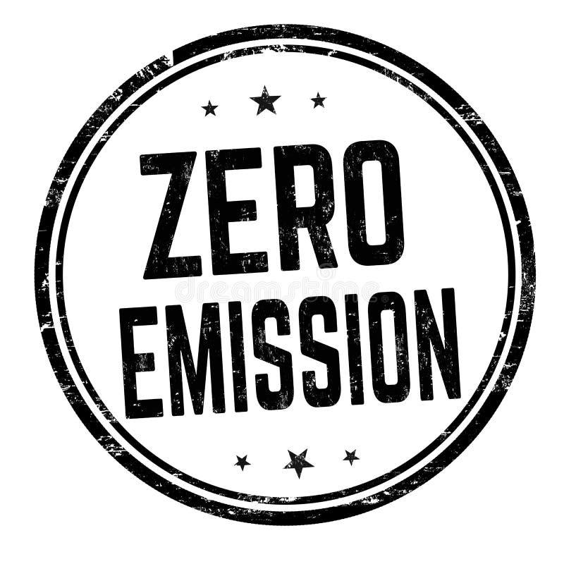 Sinal ou selo zero da emissão ilustração do vetor