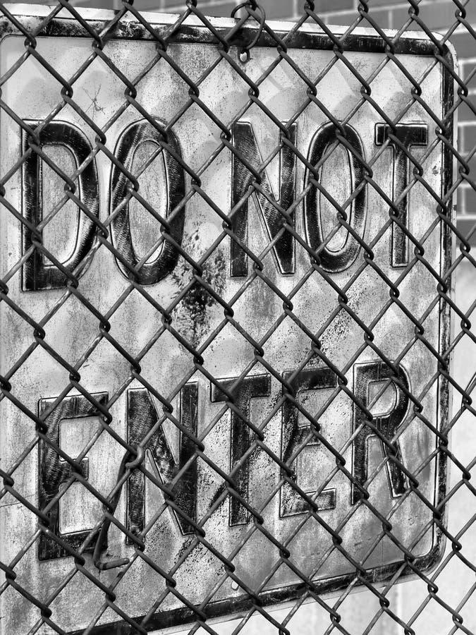 Sinal oxidado fotografia de stock