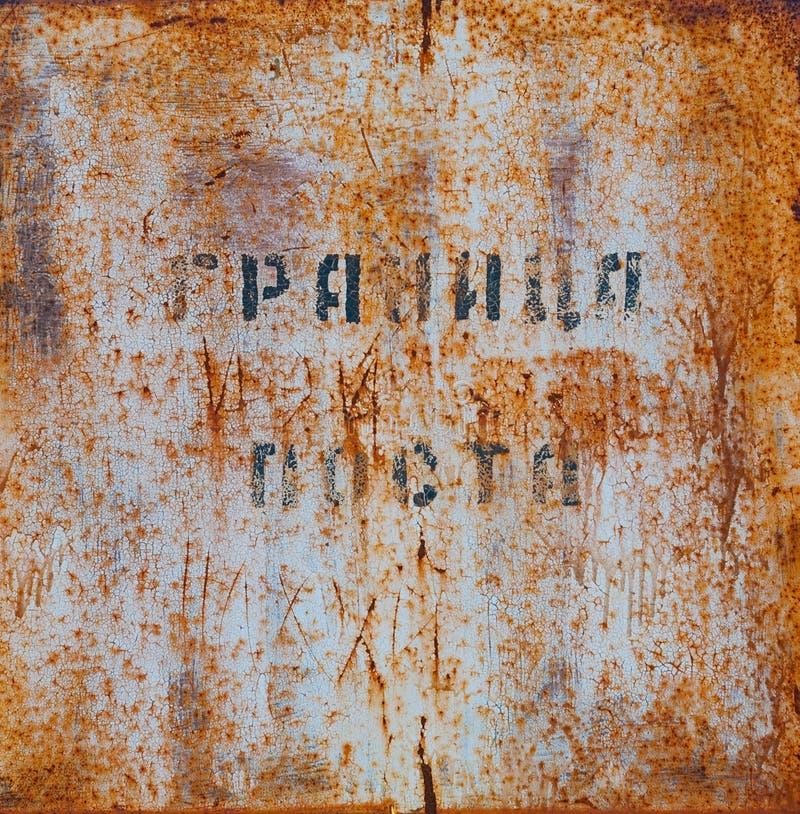 Sinal oxidado velho fotos de stock