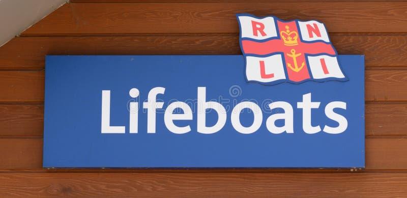Sinal para barcos salva-vidas imagem de stock royalty free
