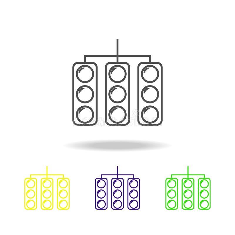 sinal para competir o ícone colorido Pode ser usado para a Web, logotipo, app móvel, UI, UX ilustração stock