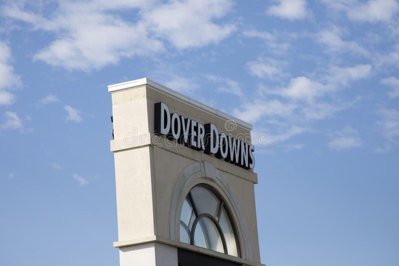 Sinal para Dover Downs, Delaware fotos de stock royalty free