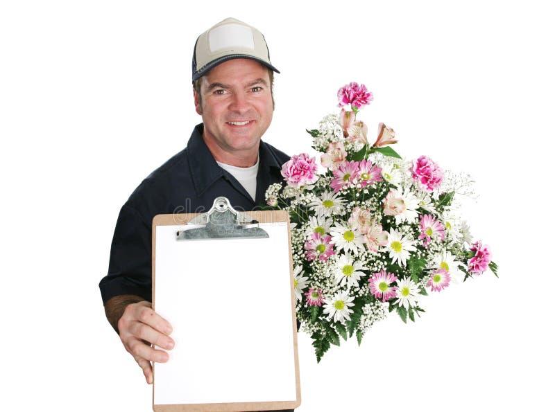 Sinal para flores fotografia de stock