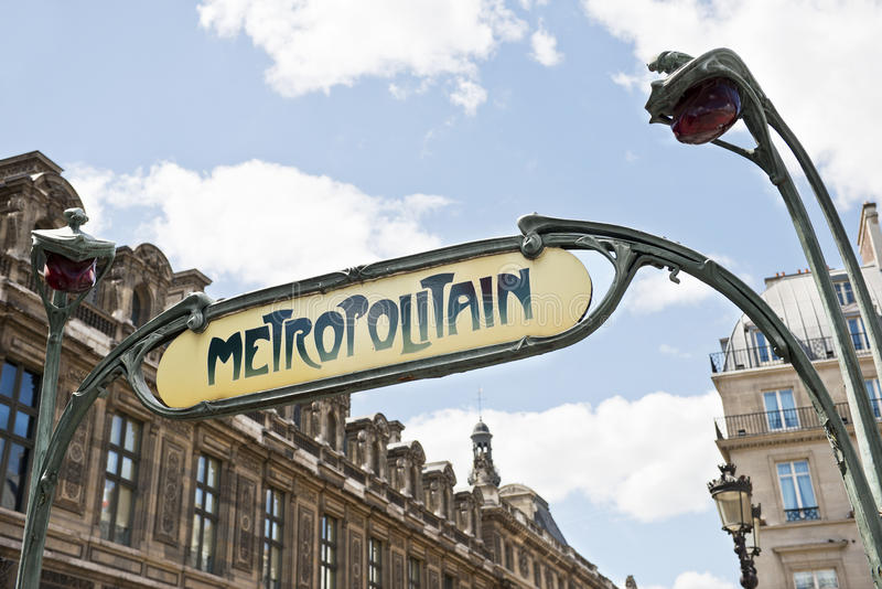 Sinal Paris do metro fotos de stock