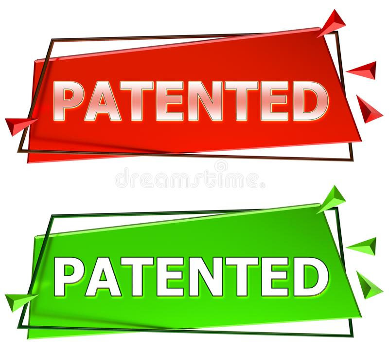 Sinal patenteado ilustração stock