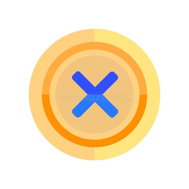 Sinal próximo e símbolo do vetor do ícone isolados no fundo branco, conceito próximo do logotipo ilustração royalty free