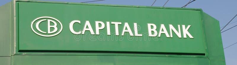 Sinal principal do banco imagem de stock royalty free
