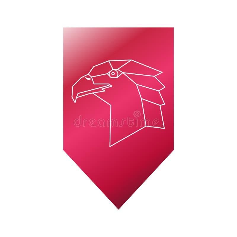 Sinal principal poligonal de Eagle ilustração royalty free