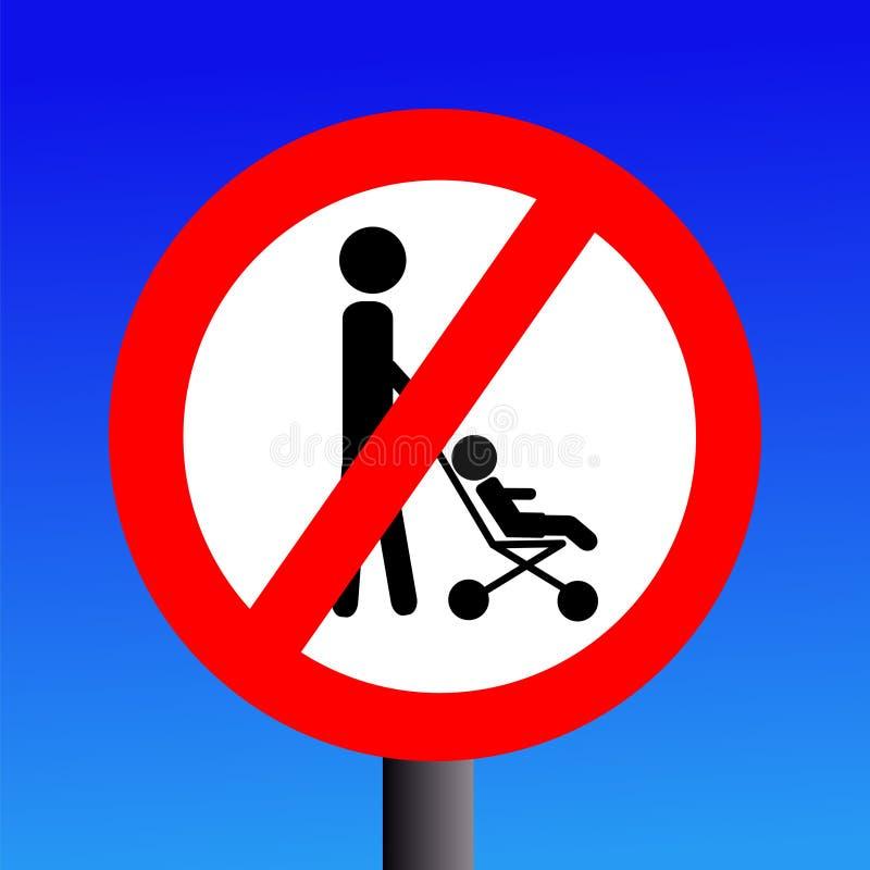 Sinal proibido carrinhos de criança ilustração do vetor