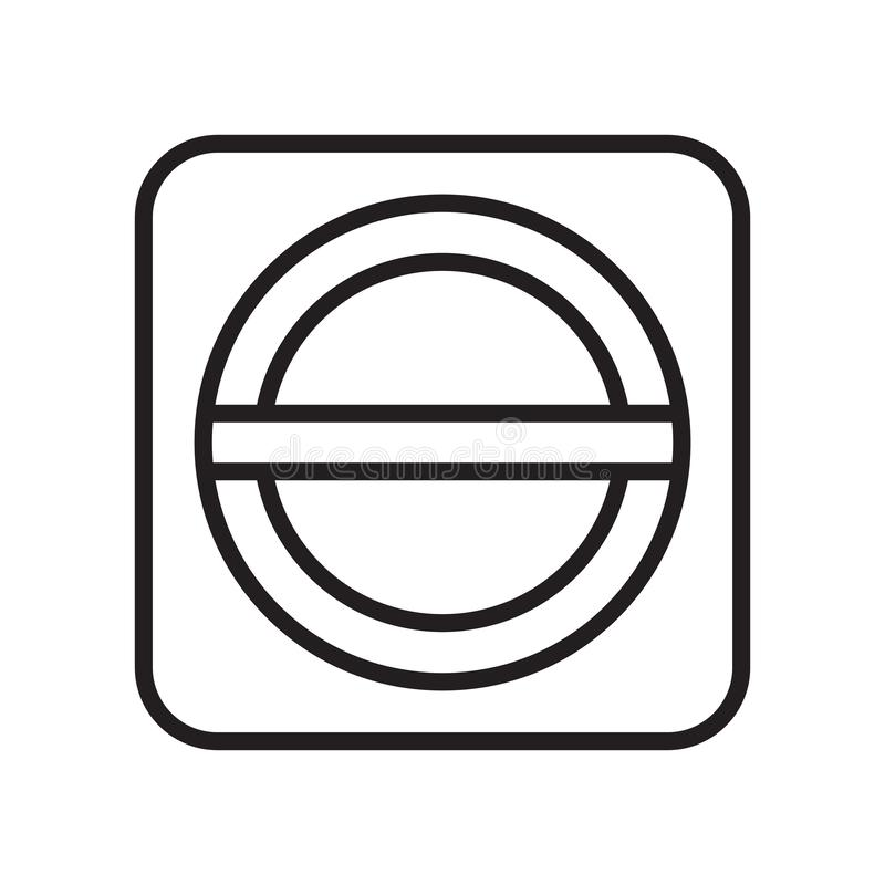 Sinal proibido e símbolo do vetor do ícone isolados no fundo branco, conceito proibido do logotipo ilustração royalty free