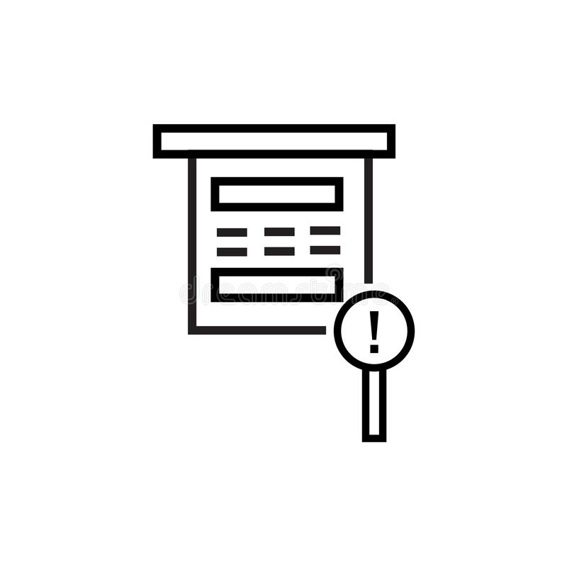 Sinal proibido e símbolo do vetor do ícone isolados no fundo branco, conceito proibido do logotipo ilustração do vetor